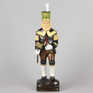 Geschnitzter Bergmann, farbig, 34 cm