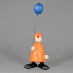 Gratulant Linus mit blauem Luftballon, gelb