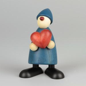 Gratulant Theo mit Herz, blau