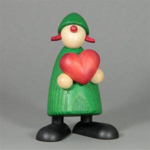 Gratulantin Thea mit Herz, grün