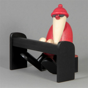 Weihnachtsmannband Weihnachtsmann am Piano