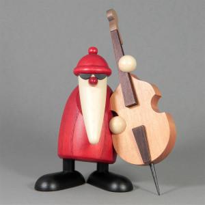 Weihnachtsmannband Weihnachtsmann am Kontrabass