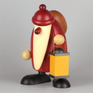 Weihnachtsmann mit Laterne, extragroß, 27 cm