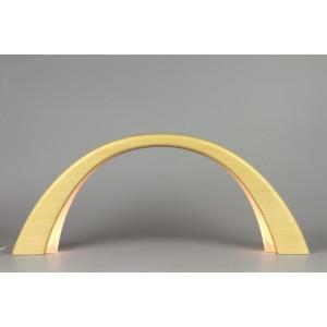 LED Lichterbogen Schwibbogen mit Innenbeleuchtung, Fichte natur