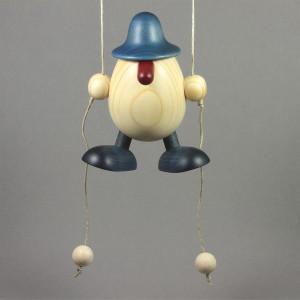 Eierkopf Arthur kletternd, blau