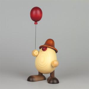 Eierkopf Vater Oskar mit Luftballon, groß, braun