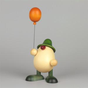 Eierkopf Vater Oskar mit Luftballon, groß, grün