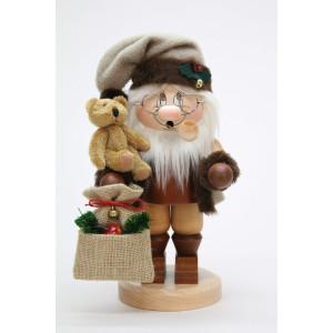 Räuchermännchen Wichtel Weihnachtsmann mit Teddy