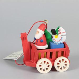 Baumbehang Heuwagen mit Weihnachtsmann