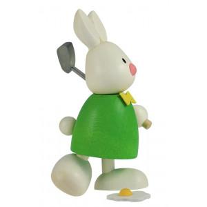 Osterhase Kaninchen Max beim Golf - Abschlag
