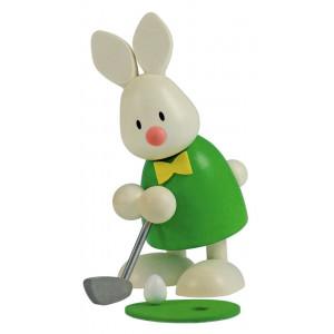 Osterhase Kaninchen Max beim Golf - Einlochen