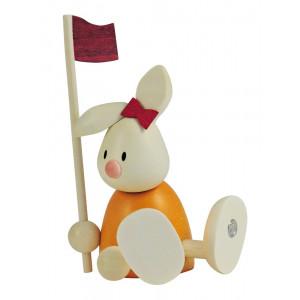 Osterhase Kaninchen Emma beim Golf - mit Fahne