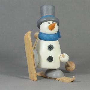 Schneemann Fritz auf Ski