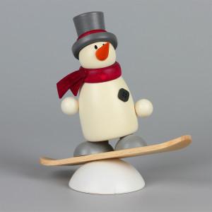 Schneemann Fritz mit Snowboard