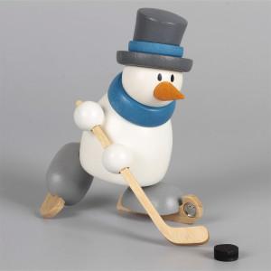 Schneemann Otto beim Eishockey