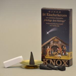 Heilige drei Könige Räucherkerzen SET 35g, 24 Stk. Packung