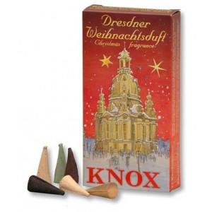 Dresdner Weihnachtsduft ROT Räucherkerzen Mischung 35g, 24 Stk. Packung