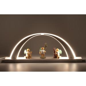 LED-Schwibbogen Esche weiß mit Wendt & Kühn Engeln
