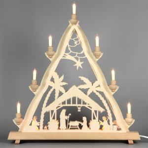 Doppel-Lichterspitze Fensterdreieck Christi Geburt