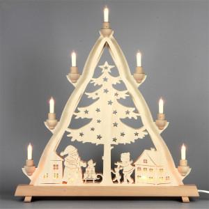 Doppel-Lichterspitze Fensterdreieck Weihnachtsmann