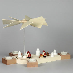 Teelichtpyramide Octogonum mit Björn Köhler Miniatur Figuren