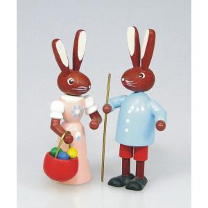 Osterhasenpärchen Mann und Frau