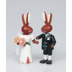 Osterhasenpärchen Brautpaar