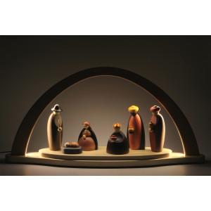 LED-Lichterbogen mit Björn Köhler Krippe Figuren, groß