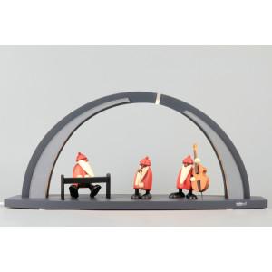 LED-Schwibbogen anthrazit mit Björn Köhler Weihnachtsmannband