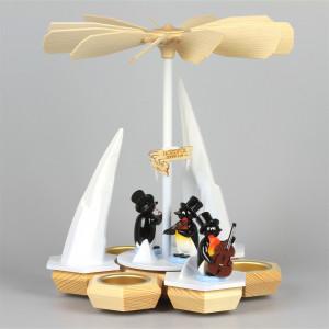Teelichtpyramide Pinguinband