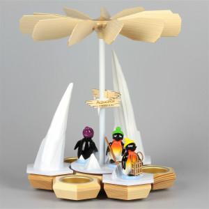Teelichtpyramide Pinguine Freizeitsportler