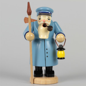 Olbernhauer Räuchermann Nachtwächter blau, klein
