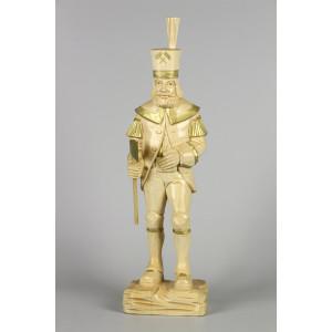 Geschnitzter Bergmann, natur/gold, 47 cm