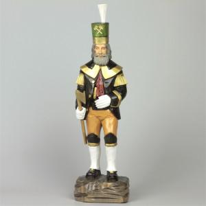 Geschnitzter Bergmann, farbig bemalt, 34 cm