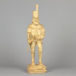 Geschnitzter Bergmann, naturfarben, 34 cm