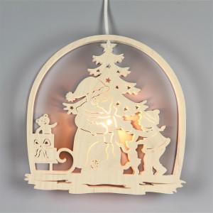 Doppel-Fensterbild Weihnachtsmann