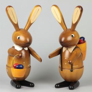 Osterhasen-Paar natur, 35 cm