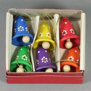 Baumbehang Glocken, mehrfarbig, 6-teilig