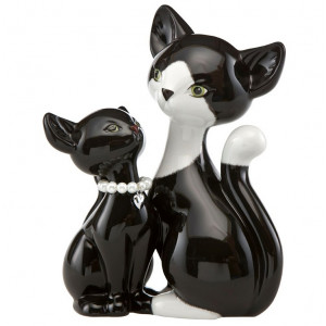 Kitty de luxe Katze Black Pearl Kitty in Love, 18,0 cm