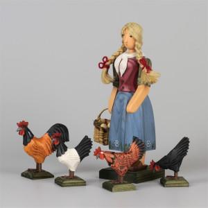 Bäuerin mit Hühnern, groß