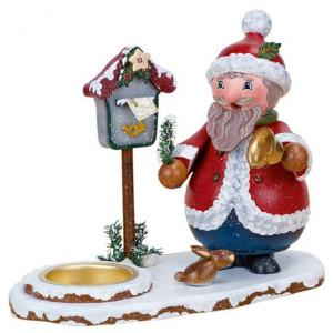 Winterkinder Teelichthalter mit Wichtel Weihnachtsmann
