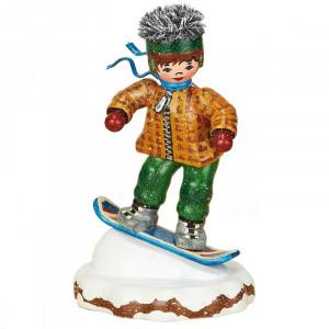 Winterkinder Snowboardfahrer