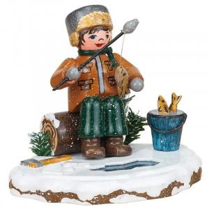 Winterkinder Eisangler