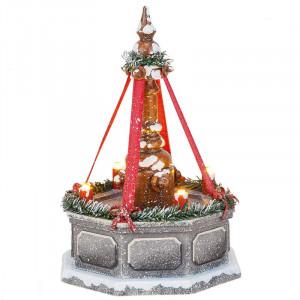 Winterkinder Stadtbrunnen, elektrisch beleuchtet