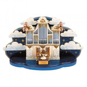 Orgel mit kleiner Wolke mit Musikwerk