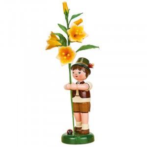 Blumenkind Junge mit Lilie