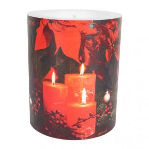 Kerze Weihnachtsstern bei Kerzenschein