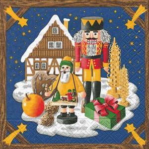 Tischservietten Weihnachtsland Erzgebirge