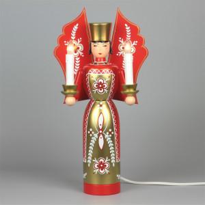 Engel rot groß, elektrisch beleuchtet, 36 cm