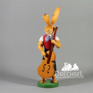 Osterhase Hase mit Bass, 25 cm